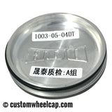 DUB Baller Wheel Center Caps Black and Machined with Dark Tint Pop-In (Set of 4)