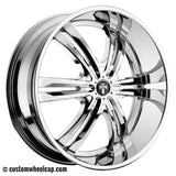 DUB Phase 6 Wheel Center Cap M-653 5640-75 Chrome ** Elite Logo Only**