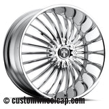 DUB Suave Wheel Center Caps 10940-15 CAP M-803 Chrome (Set of 4)