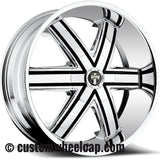 DUB Tremlo Wheel Center Cap M-861 Chrome With Black Accent