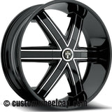 DUB Tremlo Wheel Center Cap M-861 Gloss Black With Chrome Accent