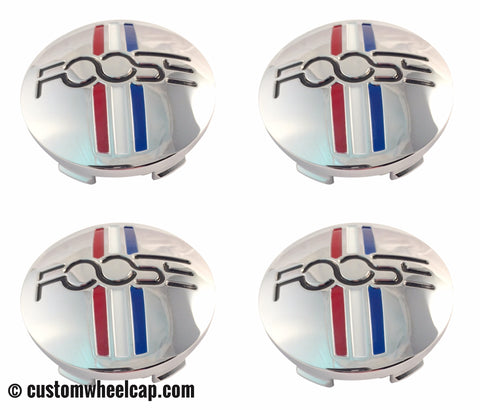 Foose Center Caps 1003-41 S1105-06-35 M-858 BK01 Chrome (Set of 4)