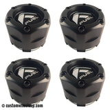 Fuel Off Road Center Caps 1003-47 Flat Black Snap-In (Set of 4)