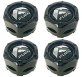 Fuel Off Road Center Caps 1003-48 Gloss Black Snap-In (Set of 4)