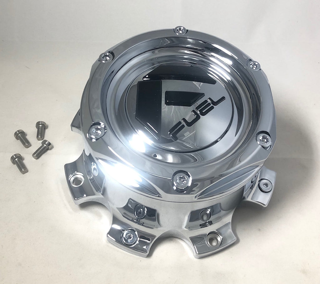 "Fuel Off Road Center Cap 1004-08T Tall 2.5"" 8 Lug Chrome"
