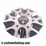 DUB Phase 6 Wheel Center Cap Black & Machined 5640-75 CAP M-654