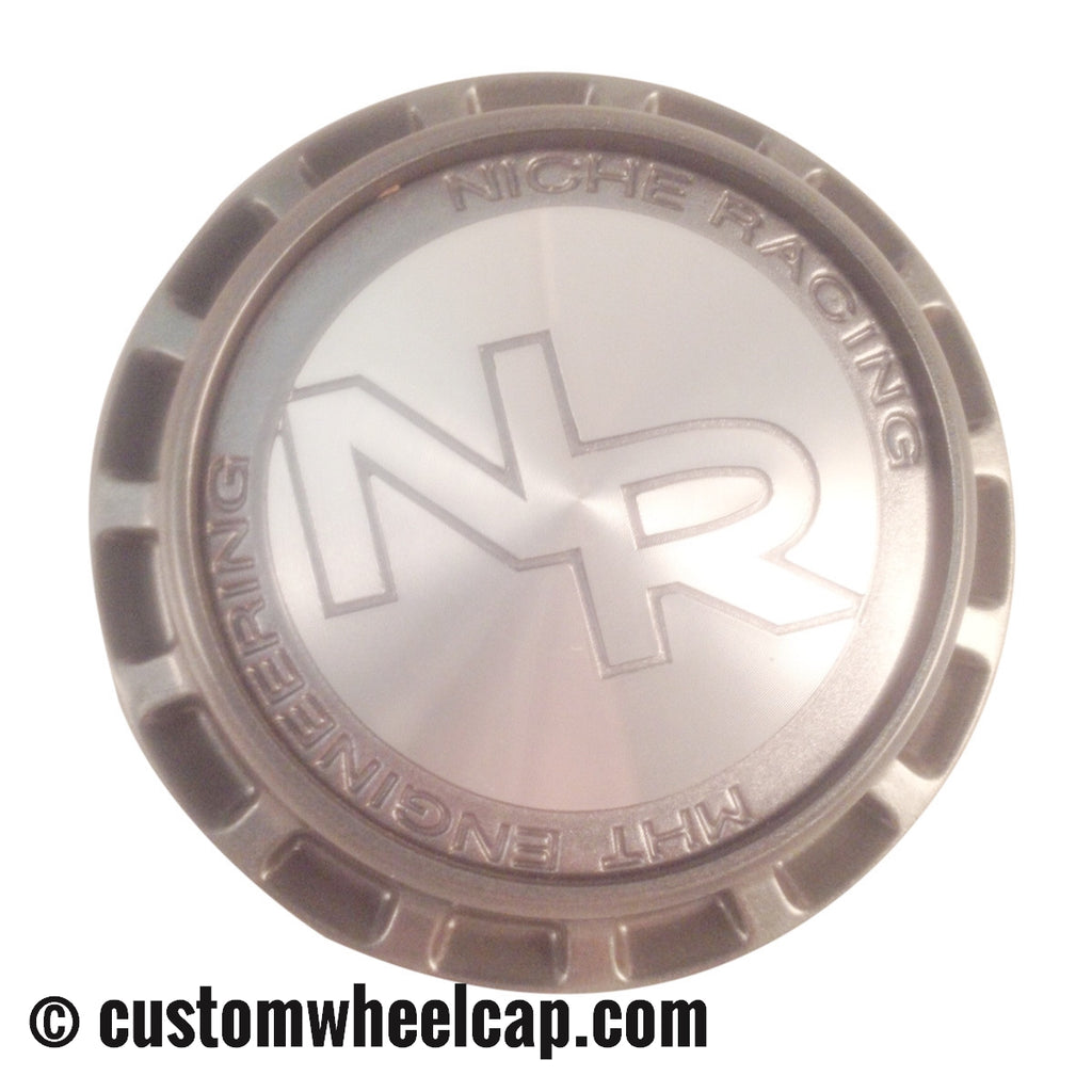 Niche Racing Center Cap M-477 Silver & Grey
