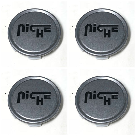 Niche Center Cap 1003-22  Matte Gun Metal Anthracite (Set of 4)