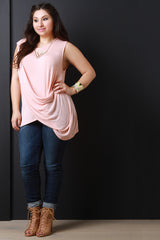 Sleeveless Asymmetrical Draping Top
