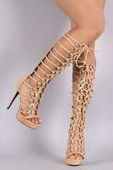 Privileged Grommets Lace-Up Gladiator Heel