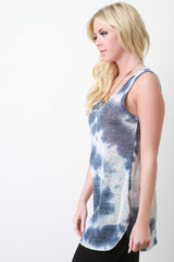Tie Dye Knit Tunic Top