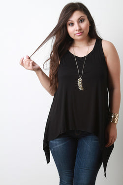 Asymmetrical Hem Sleeveless Top