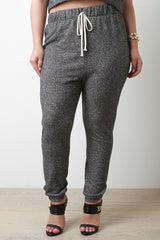 Heathered Knit Jogger Pants