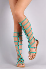 Metallic Rings and Knots Gladiator Sandal