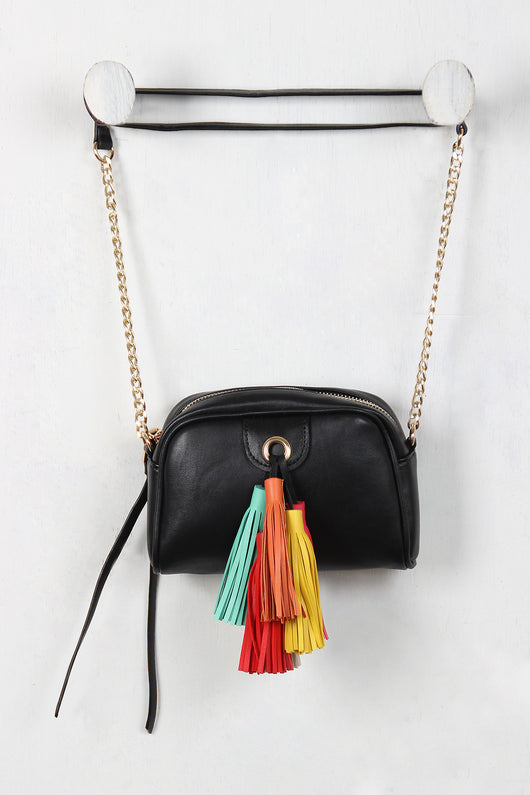 Colorful Tassel Mini Bag