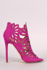 Caged Floral Lasercut Stiletto Heel