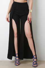 Wrap Open Front High Waist Pants