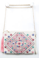 Colorful Embroidered Clutch