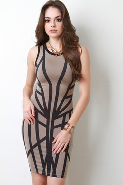 Geo Sculpture Bodycon Dress