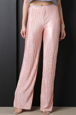 Accordion Pleated Palazzo Pants