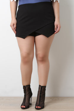 Asymmetrical Overlap High Waisted Shorts