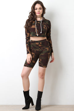 Camouflage Legging Shorts