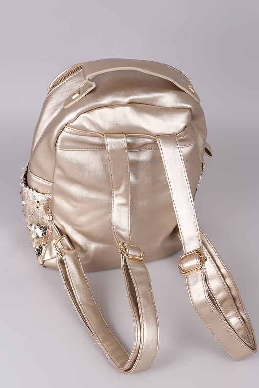 Dazzling Sequin Mini Backpack