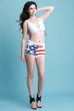 American High Rise Shorts