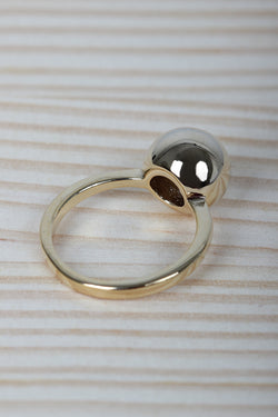 Polished Sphere Ball Ring