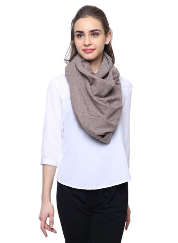 Beige Pure wool cashmere stole - scarff - 1