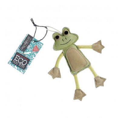 Green & Wilds Francois Le Frog Eco Dog Toy - HOUNDSONLINE