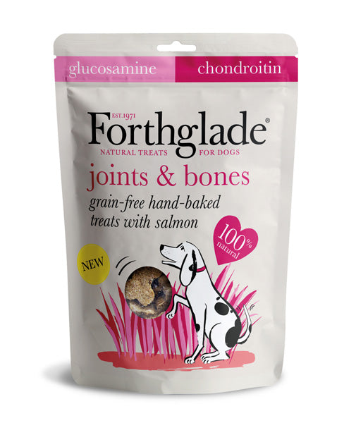 Forthglade Grain Free Hand Baked Dog Treats with Salmon, Glucosamine and Chondroitin - HOUNDSONLINE