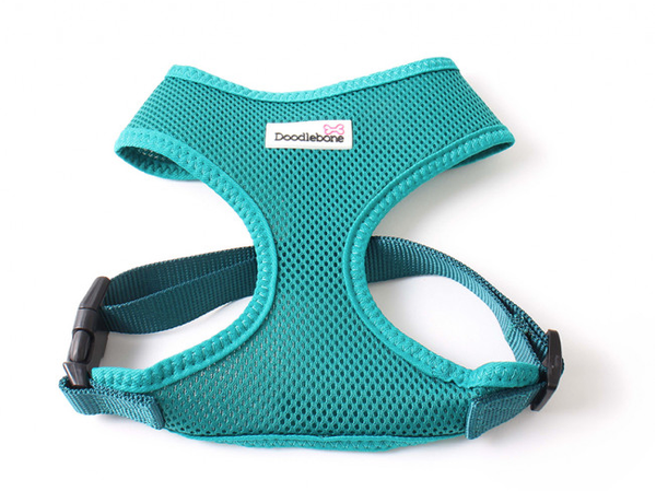 Doodlebone Airmesh Dog Harness Teal - HOUNDSONLINE