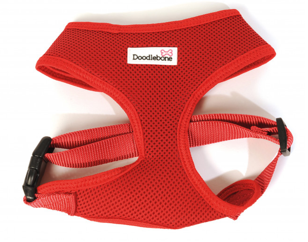 Doodlebone Airmesh Dog Harness Red - HOUNDSONLINE