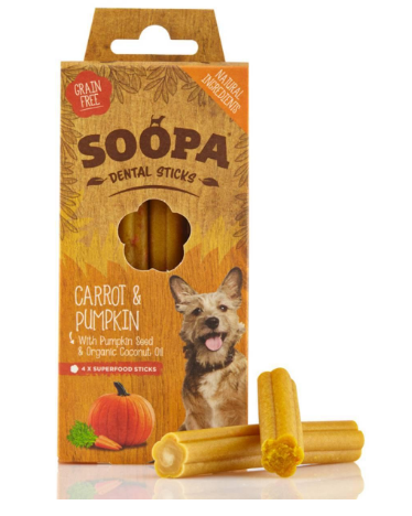 Soopa Dental Sticks Carrot & Pumpkin - HOUNDSONLINE