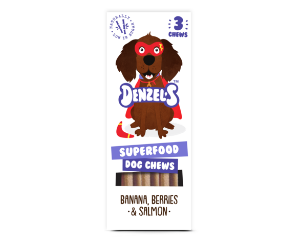 Denzel's Superfood Dog chews with Banana, Berries and Salmon - HOUNDSONLINE