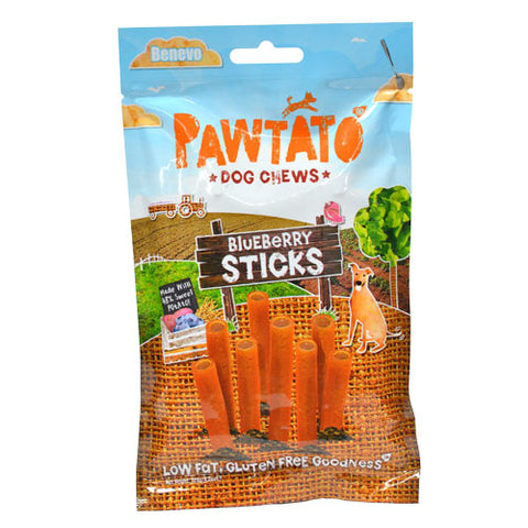 Benevo Pawtato Sticks With Blueberries 120g - HOUNDSONLINE