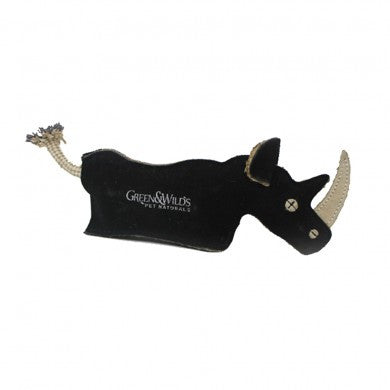 Green & Wilds Ronnie The Rhino Eco Dog Toy - HOUNDSONLINE