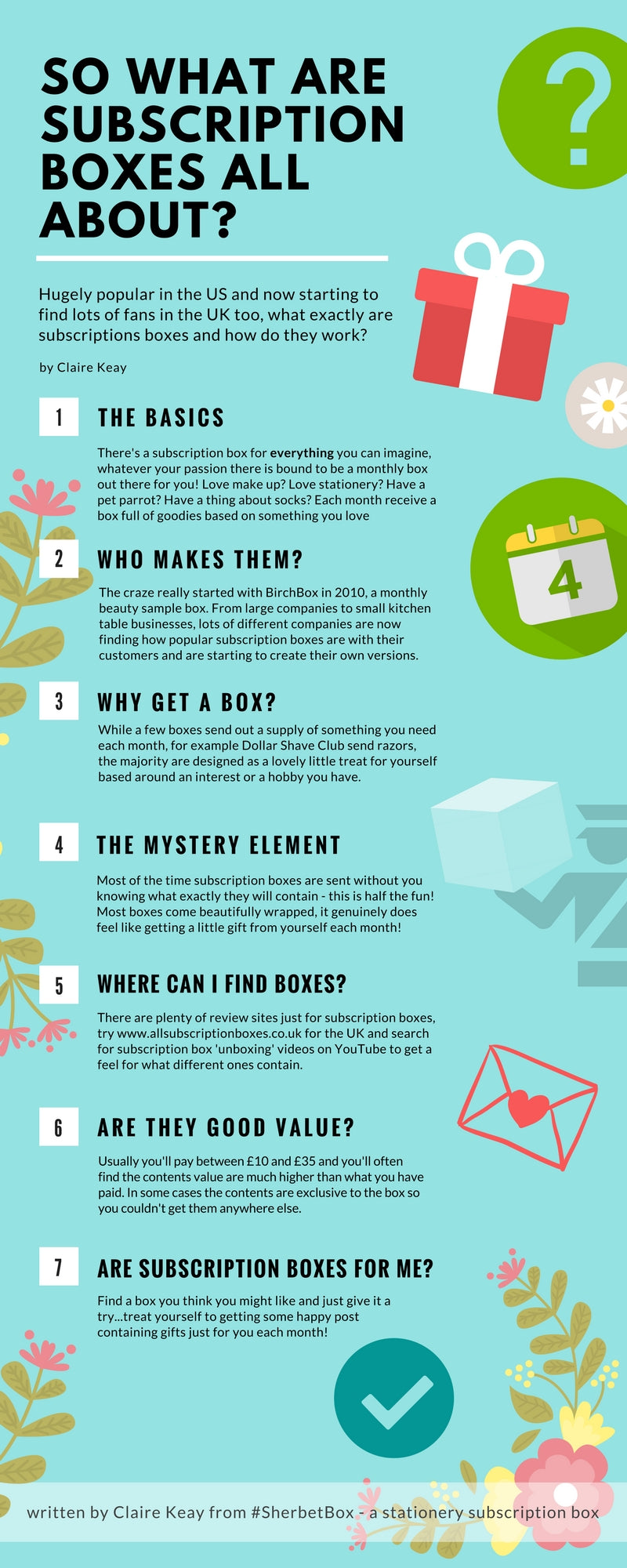 What is a subscription box infogram