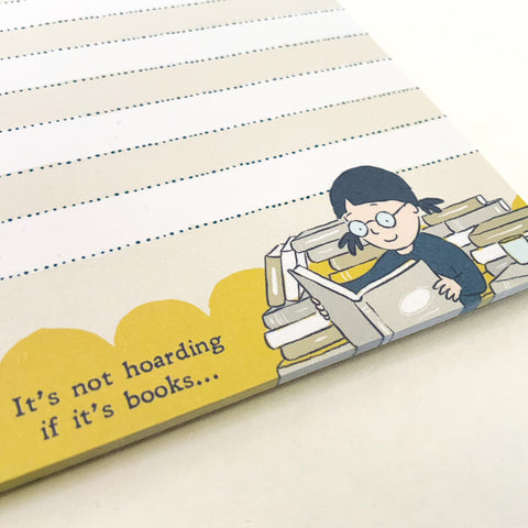 Notepad - it's not hoarding if it's books...