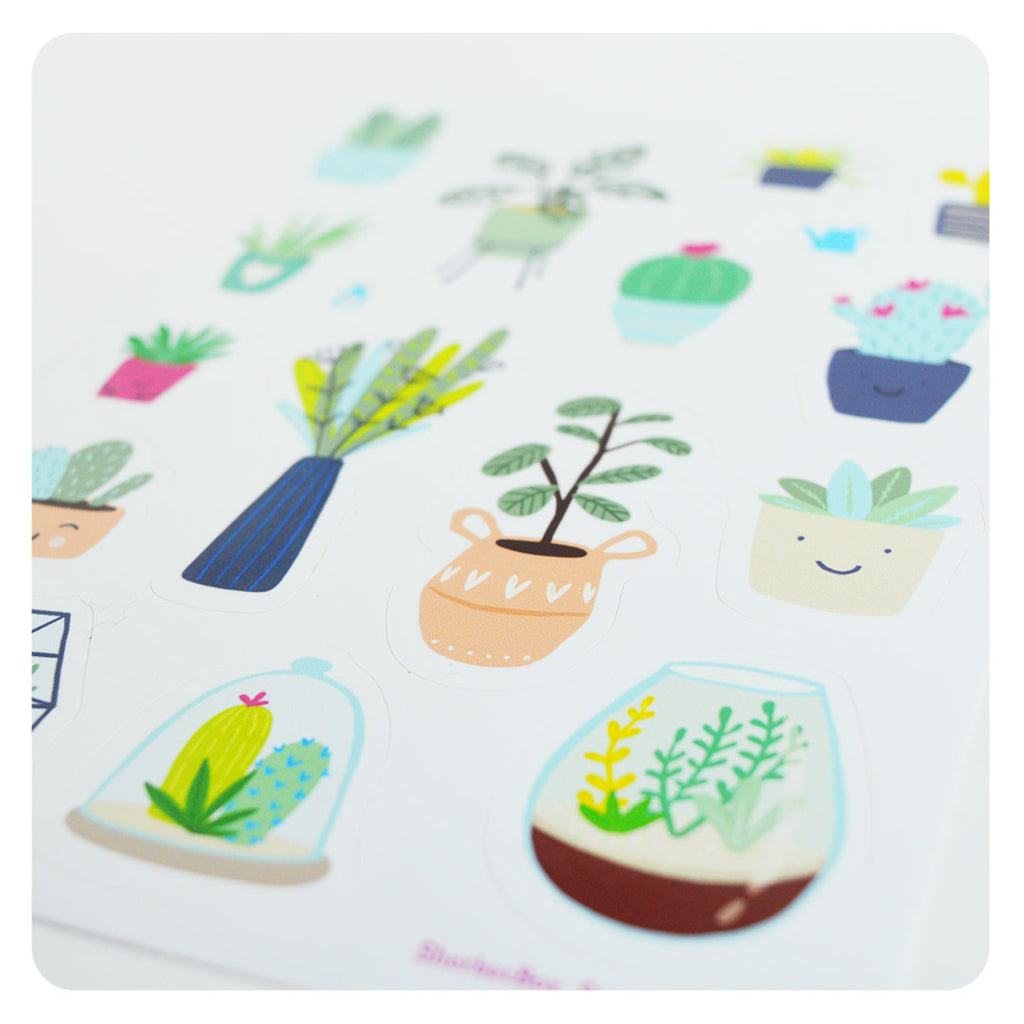 Stickers - plants cacti succulents