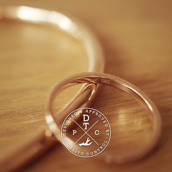 Tailor-made 14K Rose Gold Bangle
