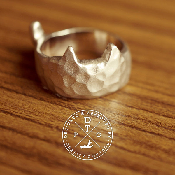 Tailor-made Sterling Silver 'CAT' ring
