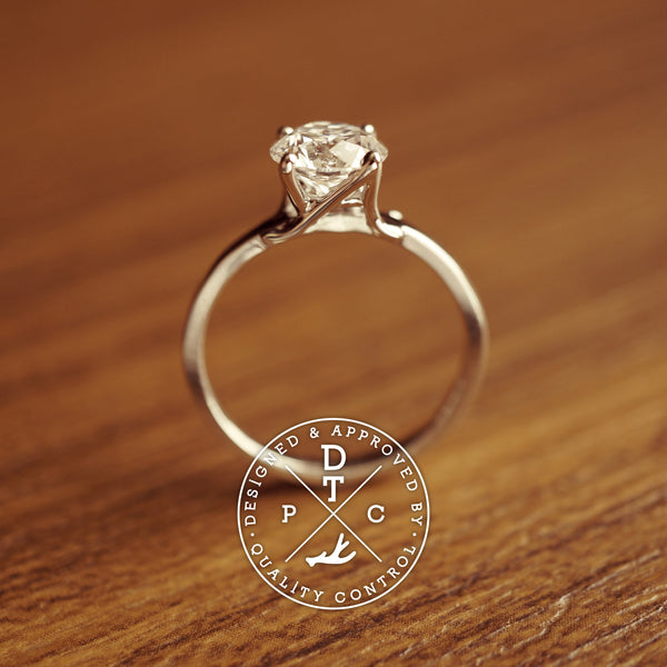 Tailor-made 18K Initial A Diamond Ring