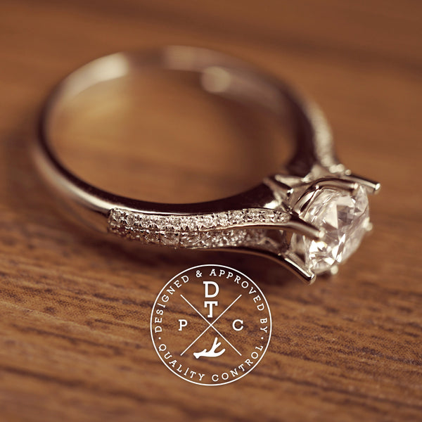 Tailor-made 18K white gold diamond engagement ring