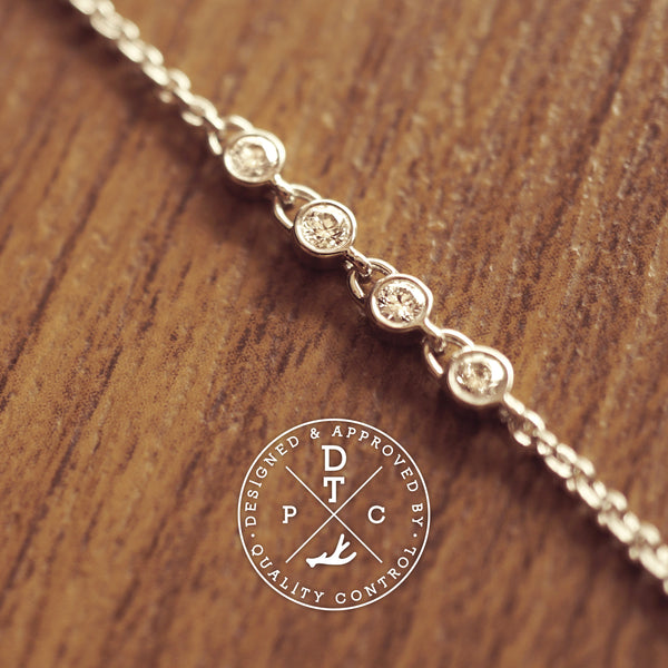 Tailor-made 18K White Gold diamond bracelet
