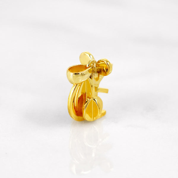 Da Mouse Pendant - Yellow Gold