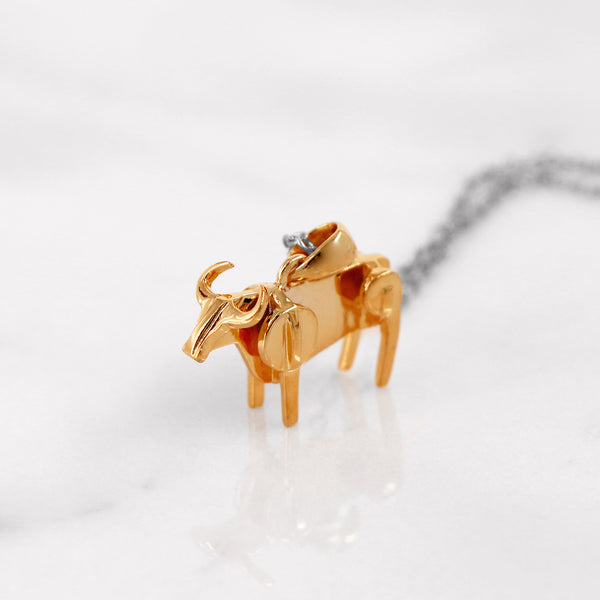 Da Cow Pendant - Rose Gold