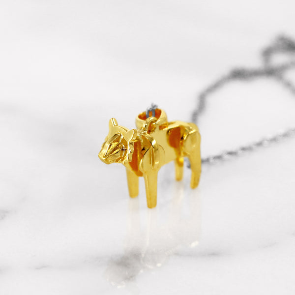 Da Tiger Pendant - Yellow Gold