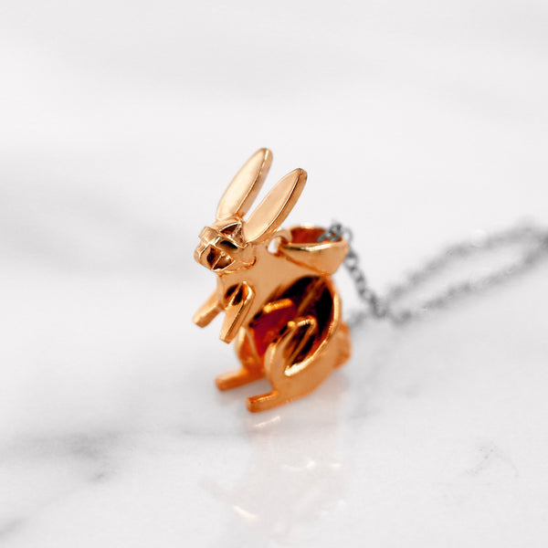 Da Rabbit Pendant - Rose Gold